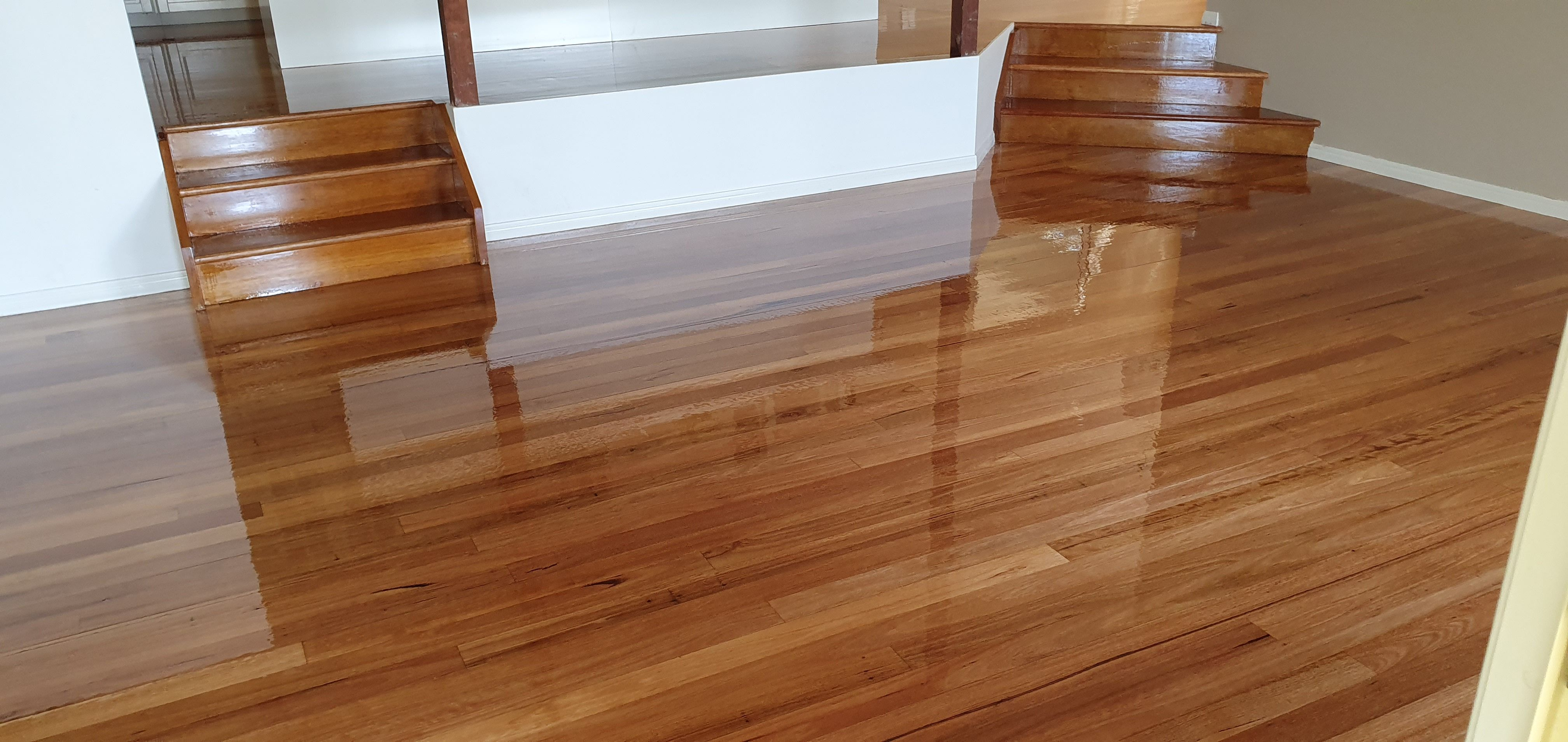 Example of the floor sanding and polishing on Sunshine Coast, QLD